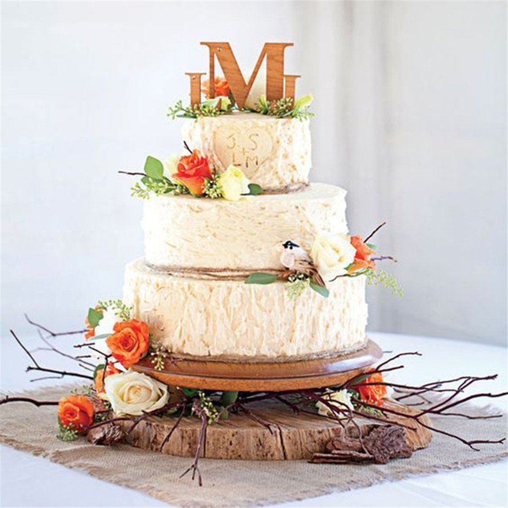 Bird's Nest Wedding Cake using tree bark texture silicone fondant molds
