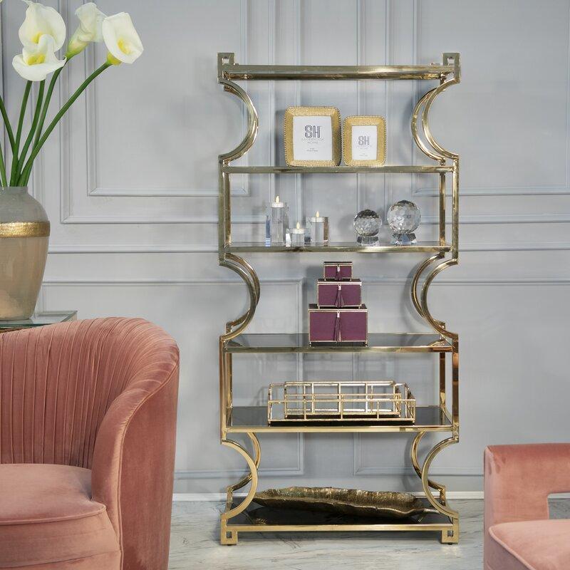 Cohan Gold Etagere Bookcase