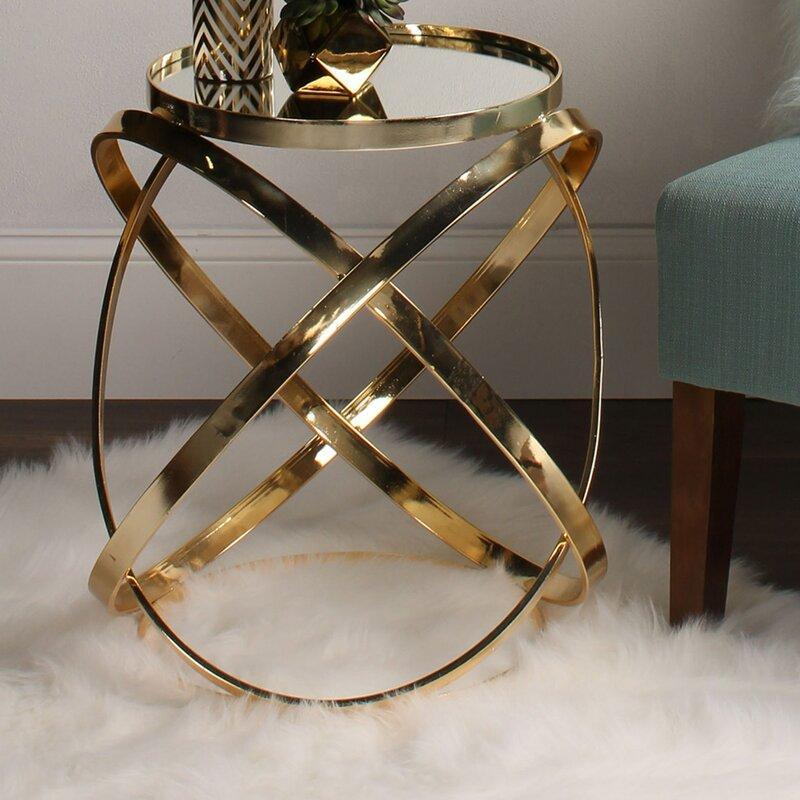 Delmonte Gold End Table