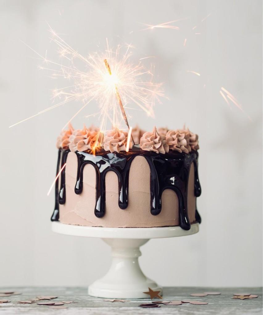 Dripping Gooey Chocolate Mocha Birthday Cake
