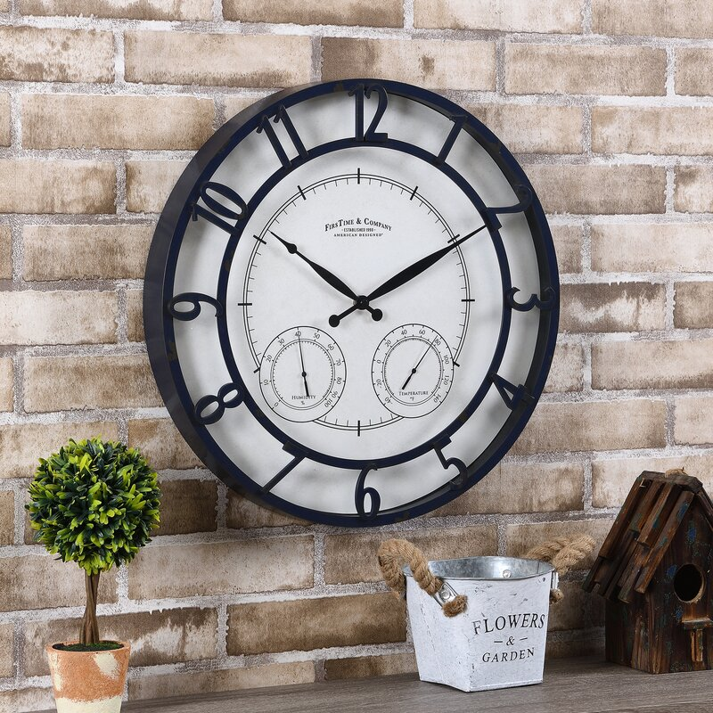 FirsTime & Co. Oil-Rubbed Bronze Laguna Outdoor Clock