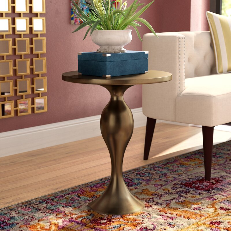 Golden Bronze Cherlyn End Table