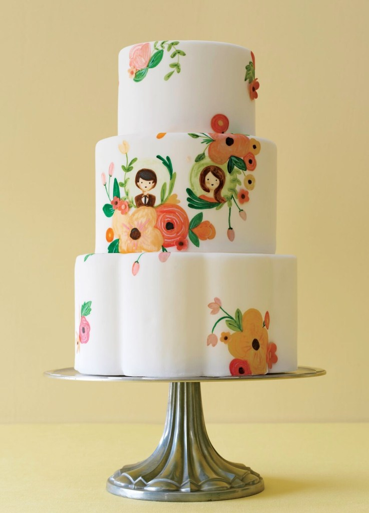 Illustrated Wedding Cake photo by Philip Ficks