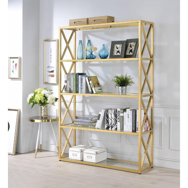 Lorenza Etagere Gold X Bookcase