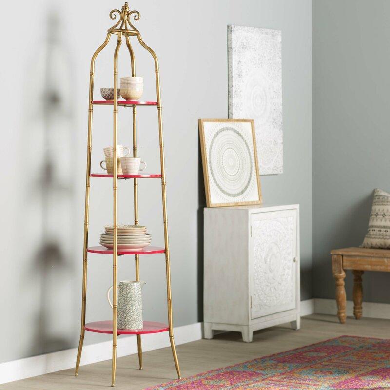 Margo Gold Ladder Bookcase
