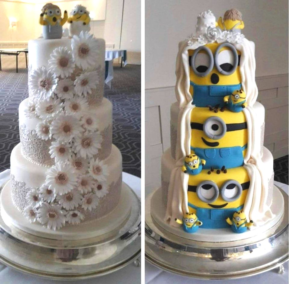 Minions Wedding Cake from Reddit