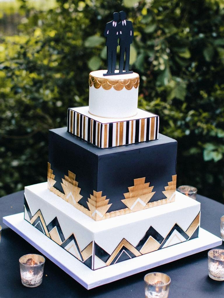 Mr & Mr Geometric Wedding Cake photo by Boris Zaretsky