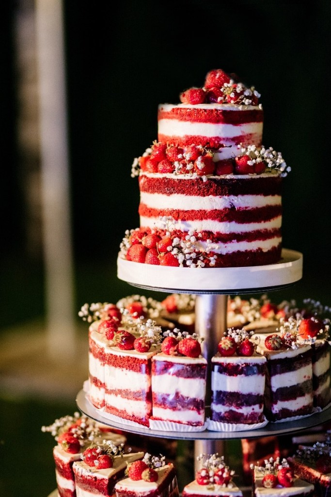 Naked Red Velvet Wedding Cake