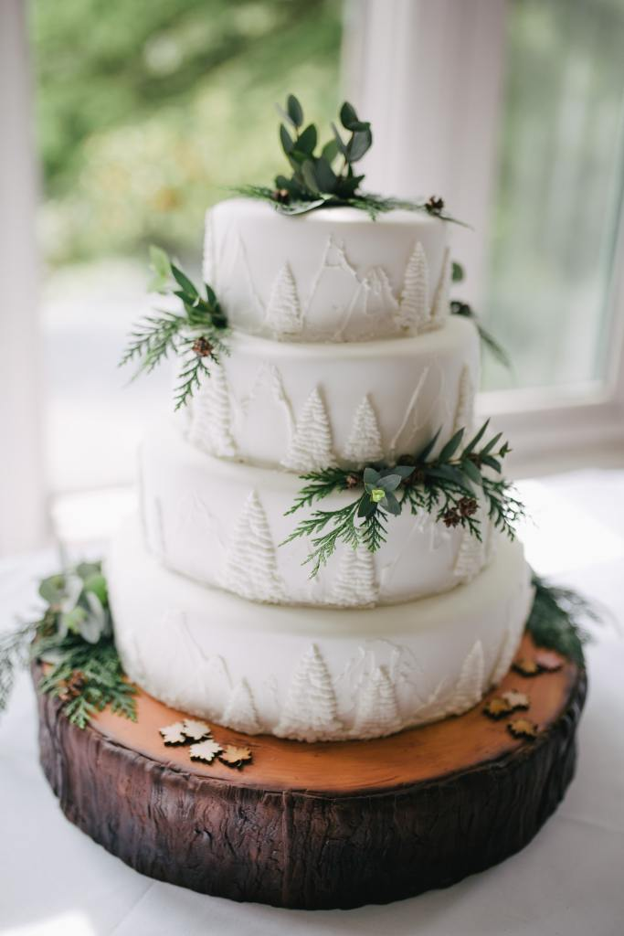 Pine Forest Wedding Cake