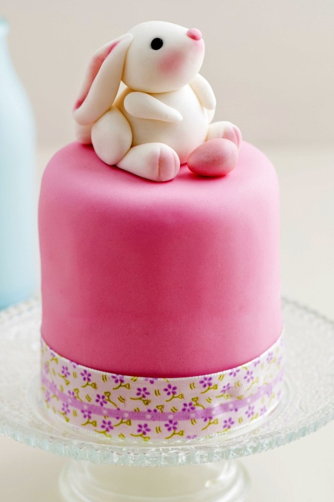 Pink Birthday Cake - Bunny