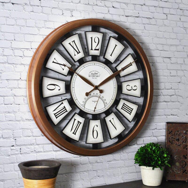 "Plaques 20"" Outdoor Wall Clock"