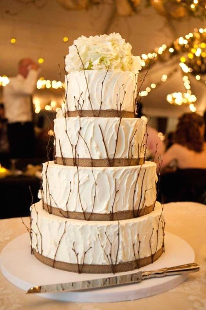 Rustic Twigs Wedding Cake