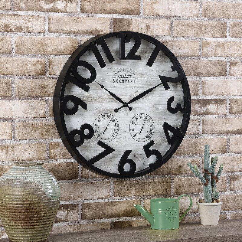 Sherwood Shiplap Wall Clock