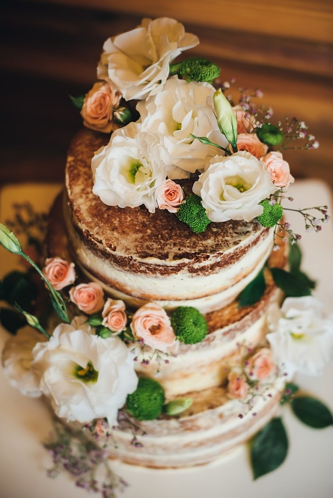 Summer Garden Naked Wedding Cake