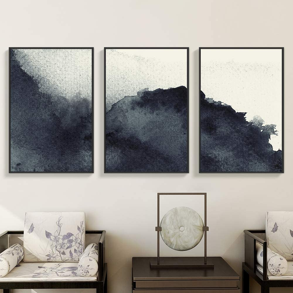 Abstract Zen Black & White Art on Canvas