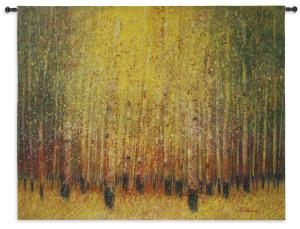 Aspen Glow | Woven Contemporary Landscape Tapestry | 53 x 53
