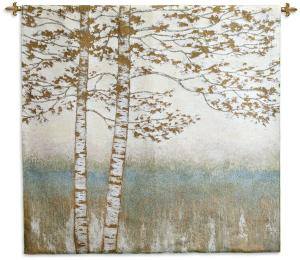Birch Silhouette II | Woven Tapestry Wall Hanging | 48 x 52