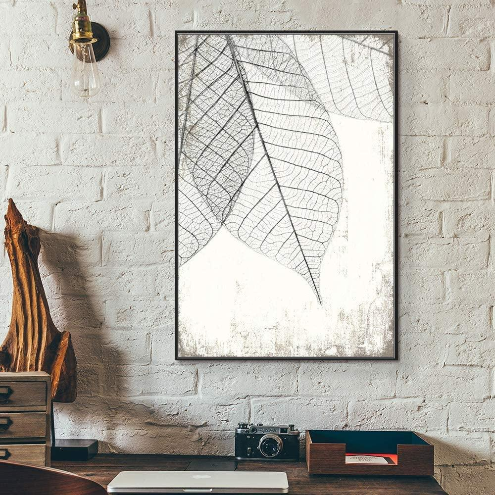 Black & White Leaf X-ray Art Print