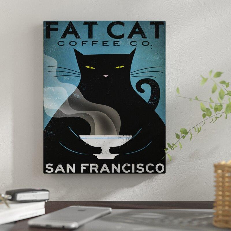 Fat Cat Coffee Co. Graphic Art Print