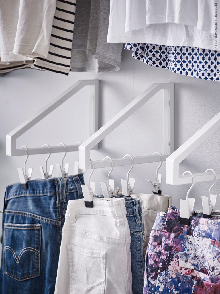 IKEA Shelf Bracket Clothes Hanging Hack