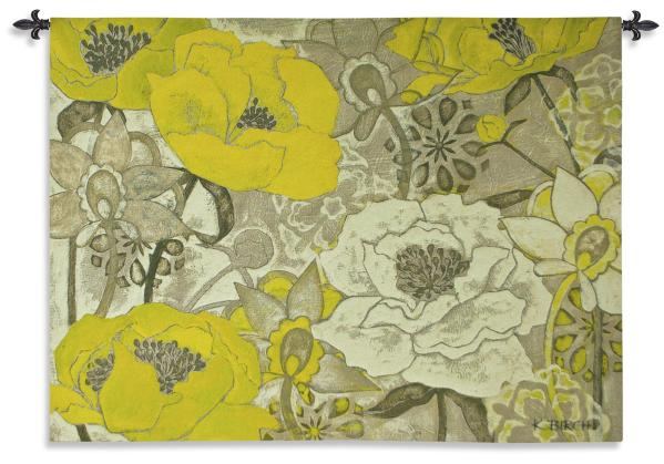 Light and Shade | Floral Wall Tapestry | 42 x 53