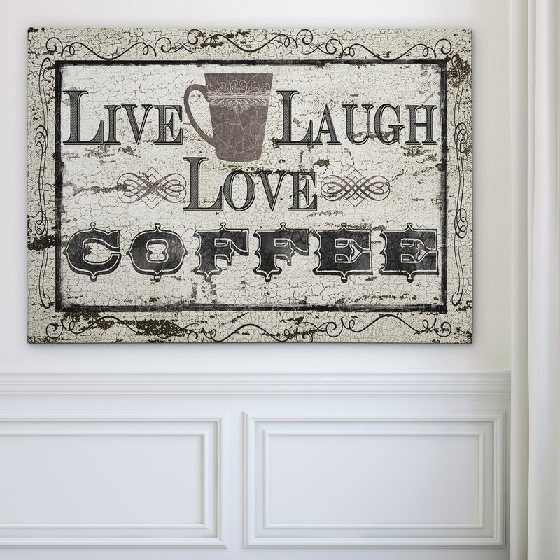 Live, Laugh, Love, Coffee Canvas Art