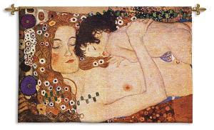Mother and Child Gustav Klimt | Wall Art Tapestry | 37 x 26