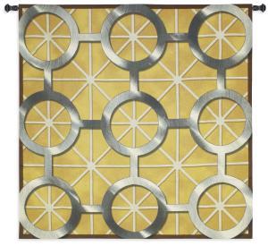 Network | Geometric Art Circles Tapestry | 53 x 53
