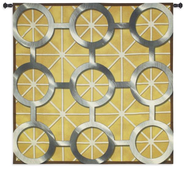 Network | Geometric Art Circles Tapestry | 53 x 53