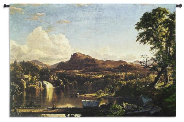 New England Scenery | Woven Landscape Art Tapestry | 34 x 52