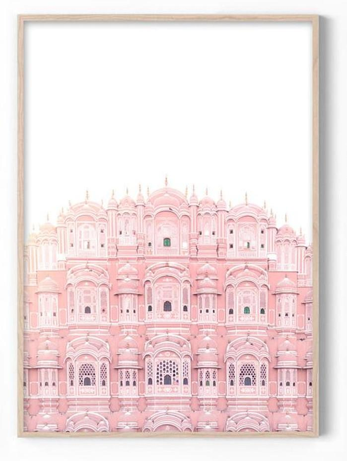 Palace of Winds Pink Art Print