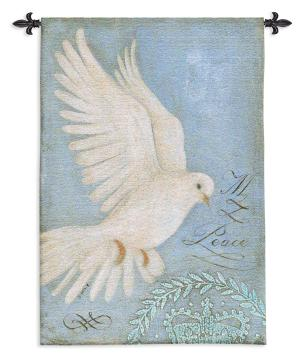 Peace Dove | French Country Wall Tapestry | 53 x 36