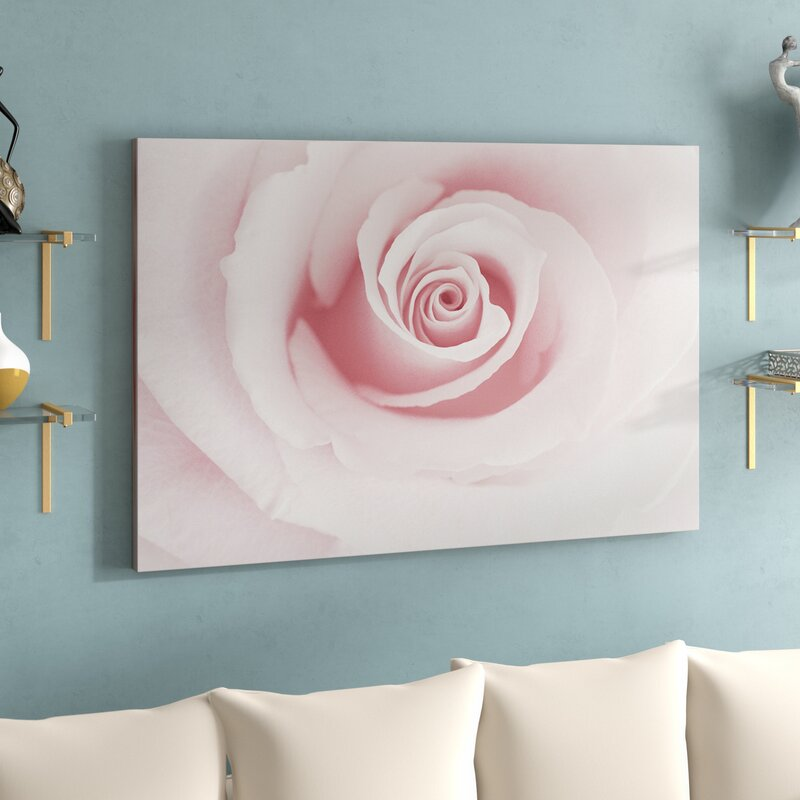 Rose Embrace Pink Oil Painting on Wrapped Canvas