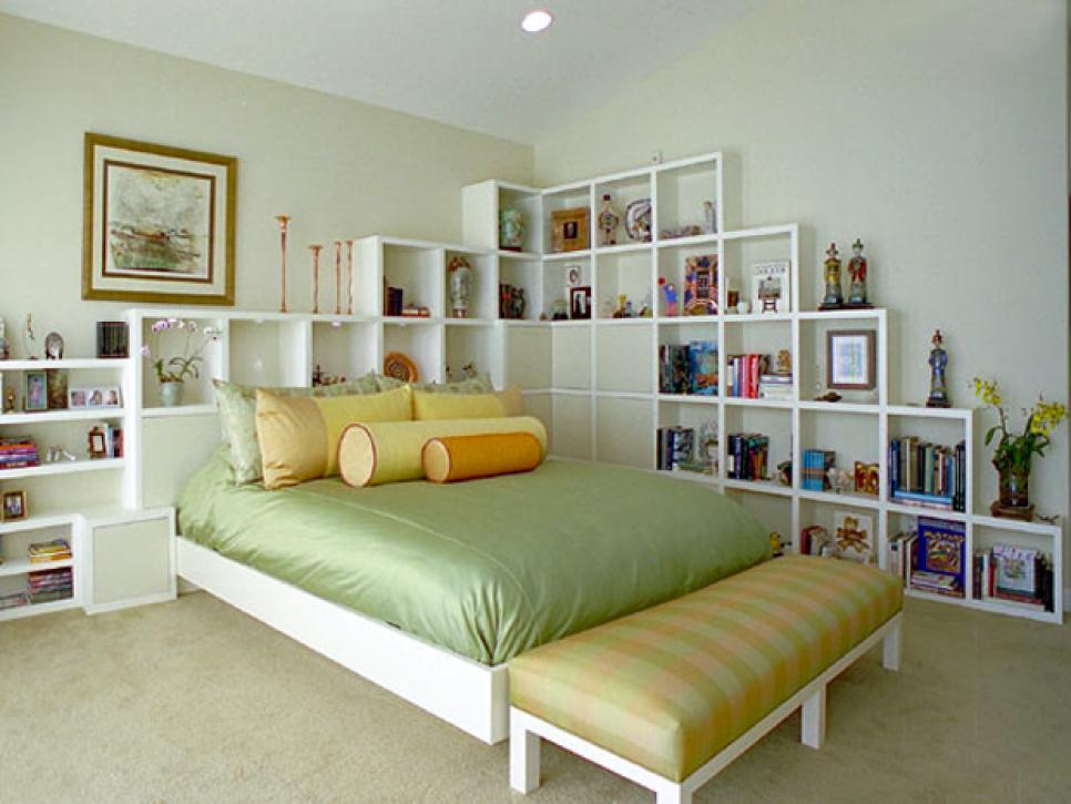 Surround the Bed with Storage Cubbies