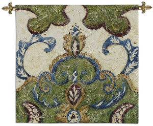Textured Tapestry I   Woven Motif Tapestry   31 x 31