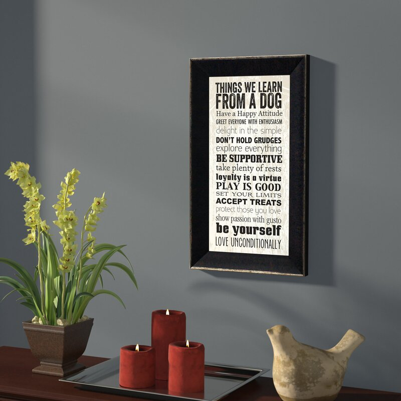 Things We Learn from a Dog Textual Art Print