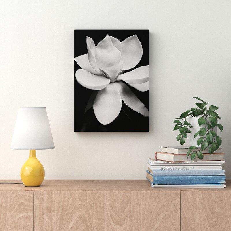 White Magnolia Photographic Print on Canvas