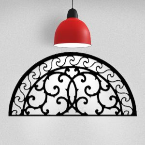Wrought Iron Wall Art Flourish Arch