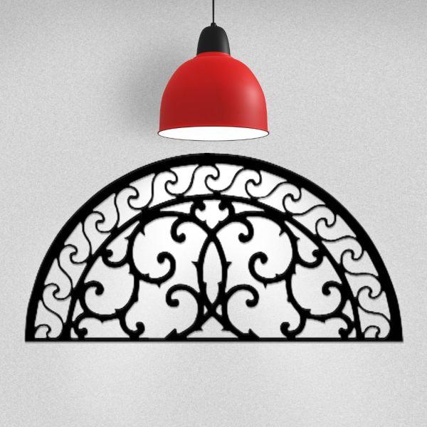 Wrought Iron Wall Art Flourish Arch