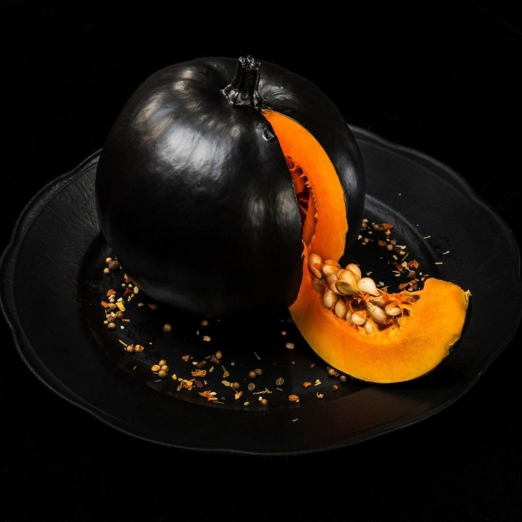 Decorative Black Pumpkin