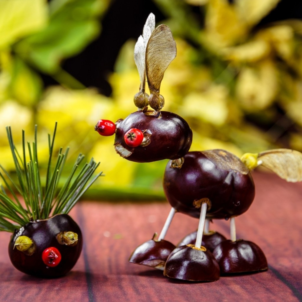 Fall Chestnut Animal Decoration