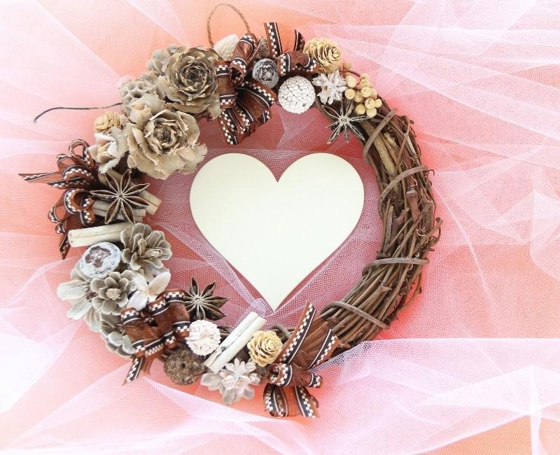 Fall Wreath with Heart Cutout