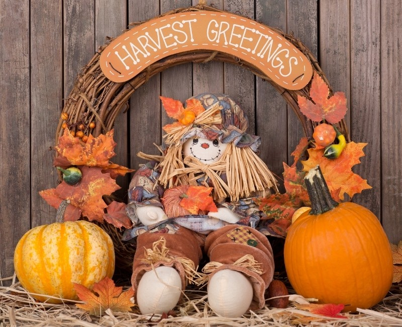 Harvest Greetings Wreath