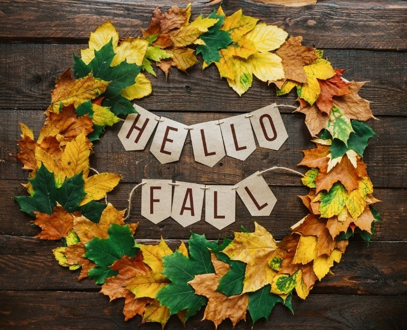 Hello Fall Simple DIY Wreath