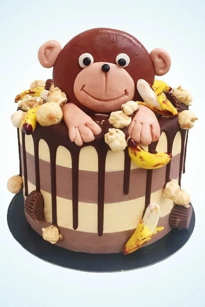 Marcel the Monkey Birthday Cake