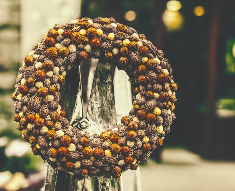 Nuts and Seeds Wreath