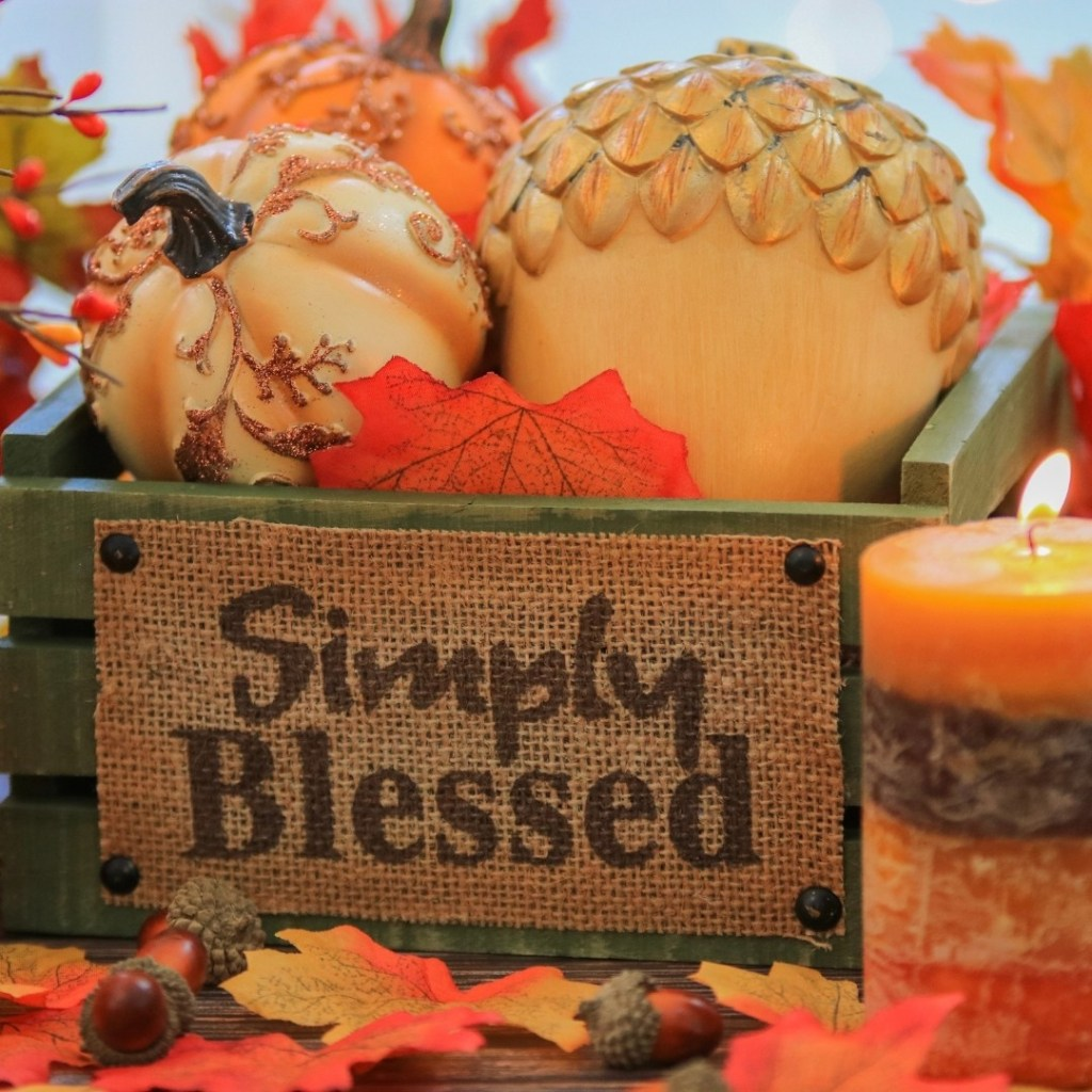 Simply Blessed Fall Decor