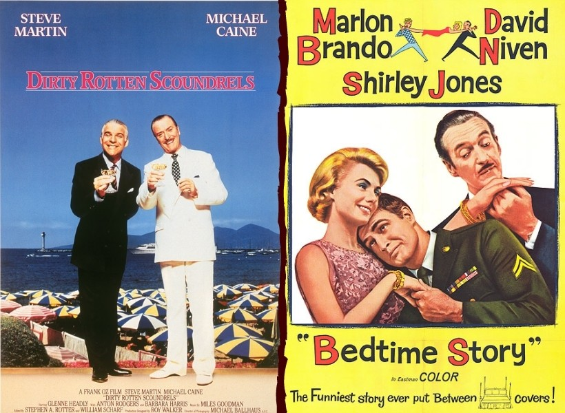Dirty Rotten Scoundrels (1988) vs Bedtime Story (1964)