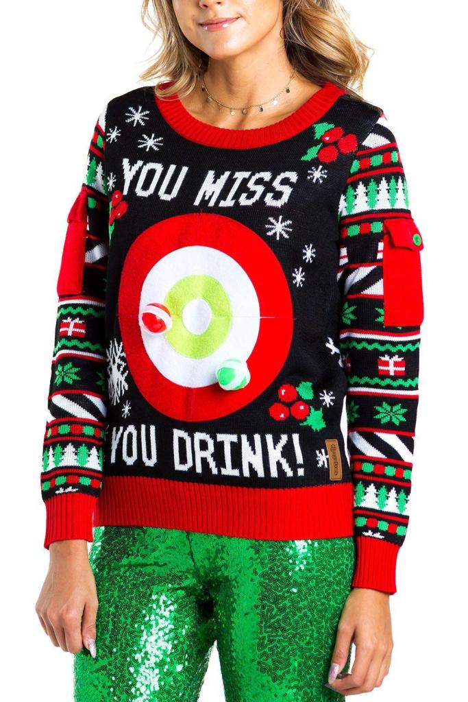 Drinking Game Ugly Christmas Sweater