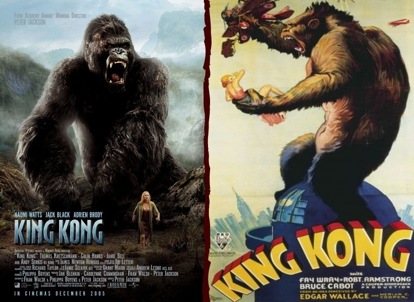 King Kong (2005 vs 1933)